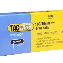 10mm 18g Galvanised Straight Brad Nails (5000)