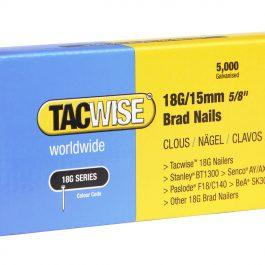 15mm 18g Galvanised Straight Brad Nails (5000)