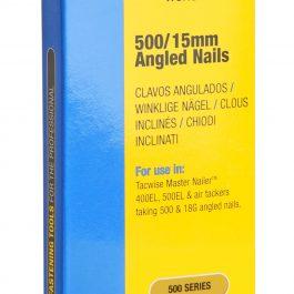15mm 18g 500 Series Galvanised Angled Brad Nails (1000)