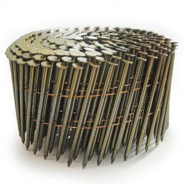 2.1 x 25mm Gavanized Ring Flat Coil Nails (14400)