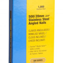 20mm 18g 500 Series Stainless Steel Angled Brad Nails (1000)