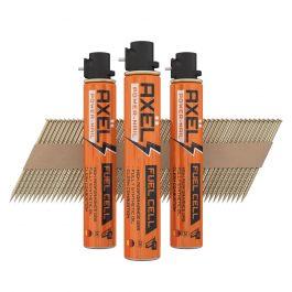 2.8 x 63mm Galvanized Paper Strip Nail & Gas Packs (3300)